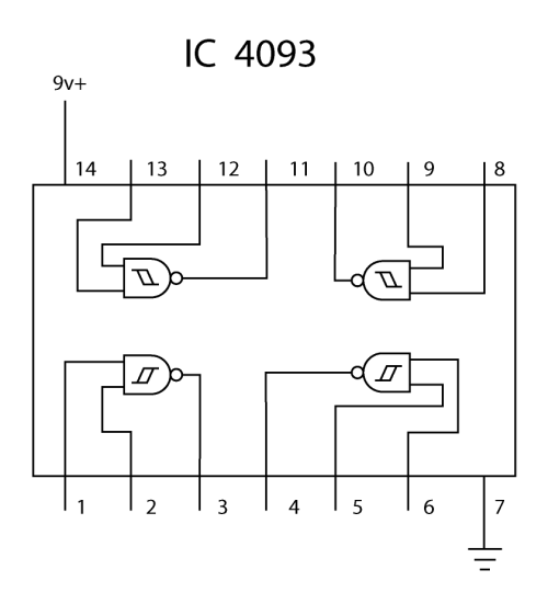 4093 pin conections