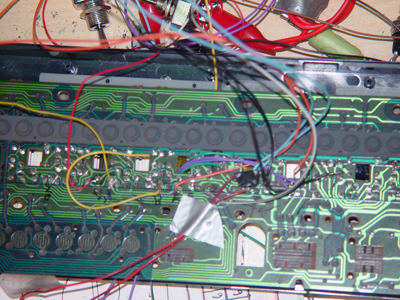 Bent Casio Pt 1 Hacked Circuits By 9volts Circuitbending Circuitbent Noise Toys Cementimental Some Interesting Points On Circuit Board